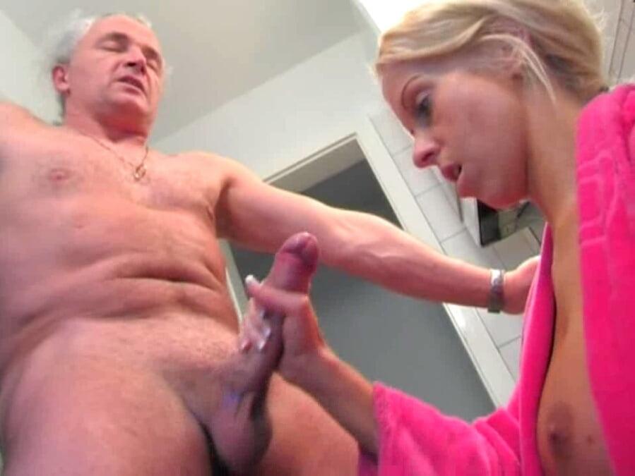 German handjob hot porn