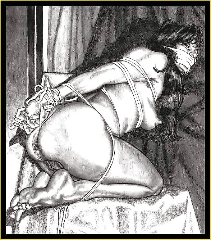 Erotic Lesbian Bondage Drawing