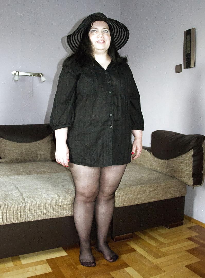 Толстая жена в колготках онлайн