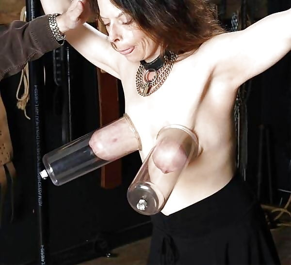 Tit bondage milk pump