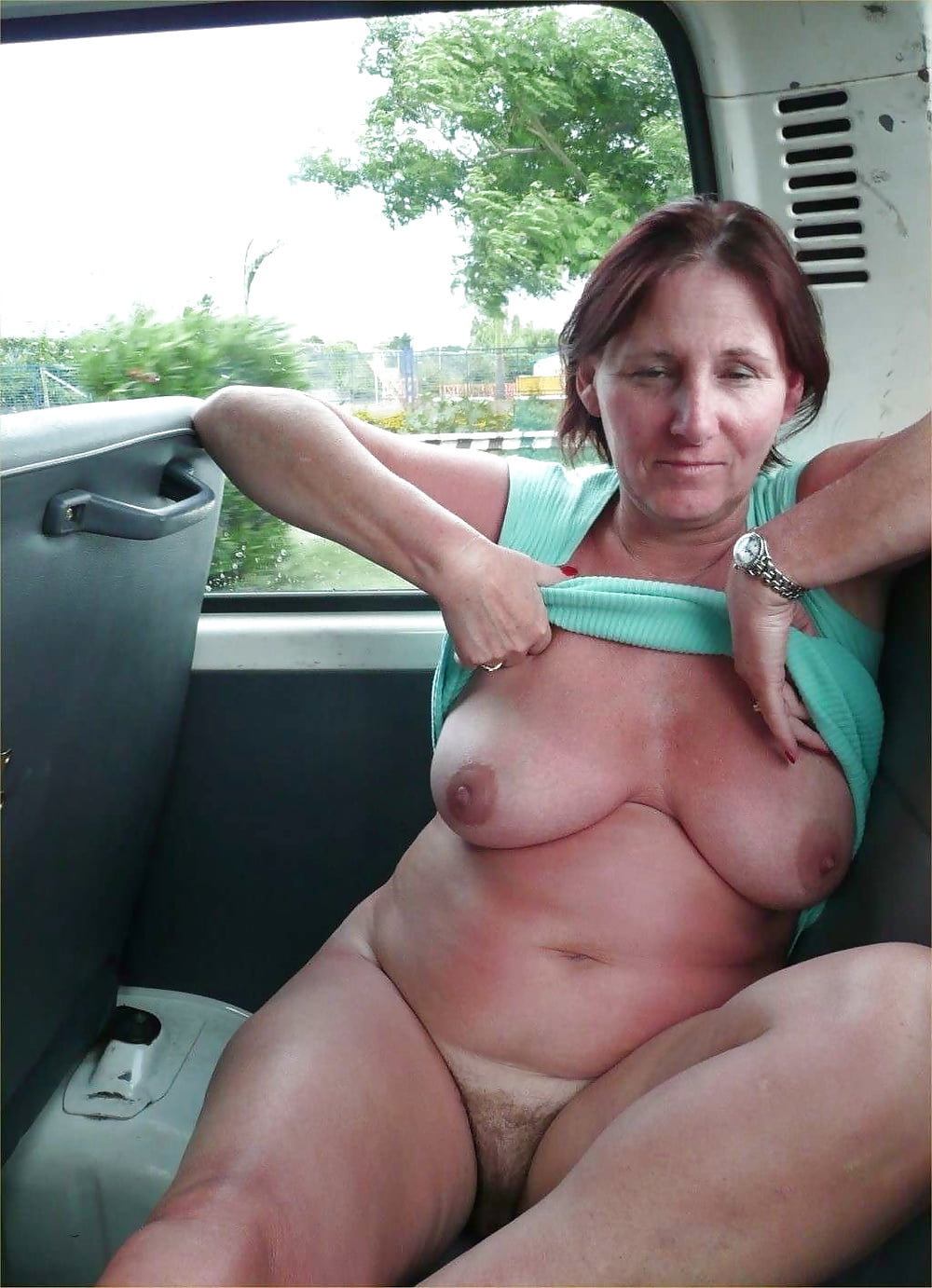 I with my wife flashing in public photo