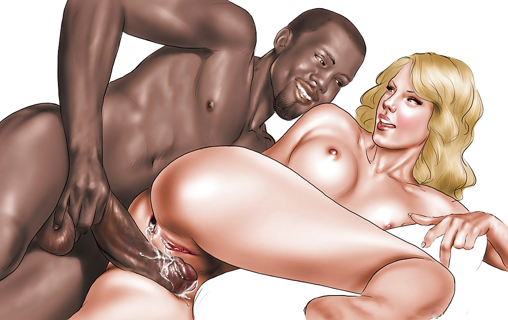 Black guy fucking white girl sex comics