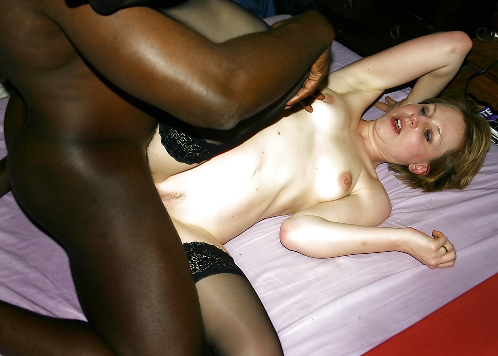 Amateur brunette wife interracial