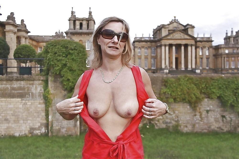 Big boobs mature football fan by mature sally