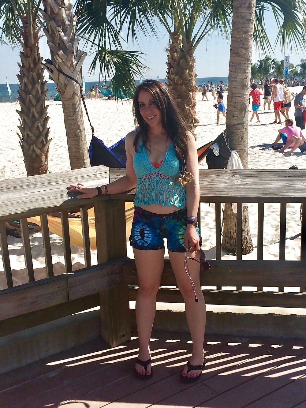 Naughty beach babes