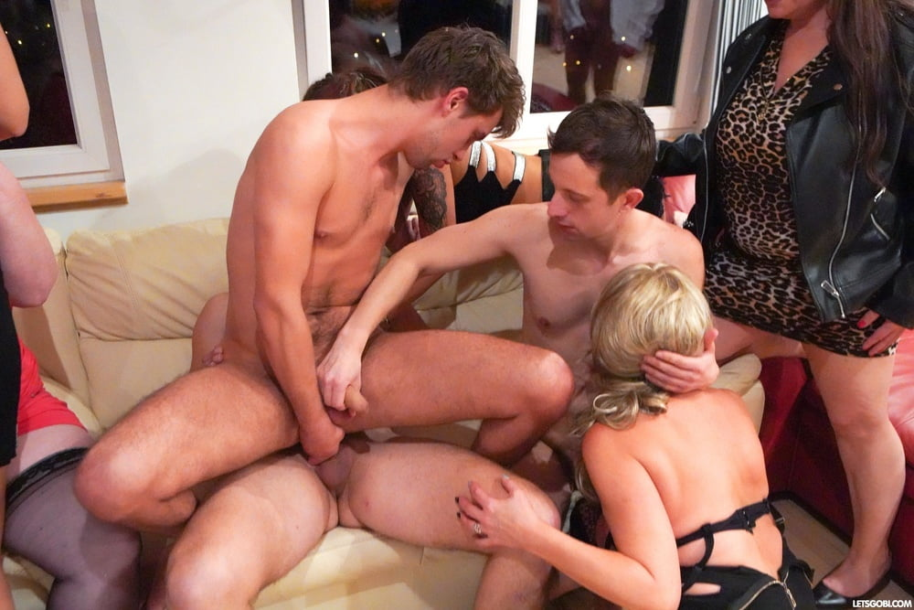 Incredible Bisexual Orgy at LetsGoBi - 17 Pics