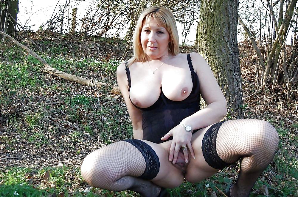Big Tit Amateur Wife Outside