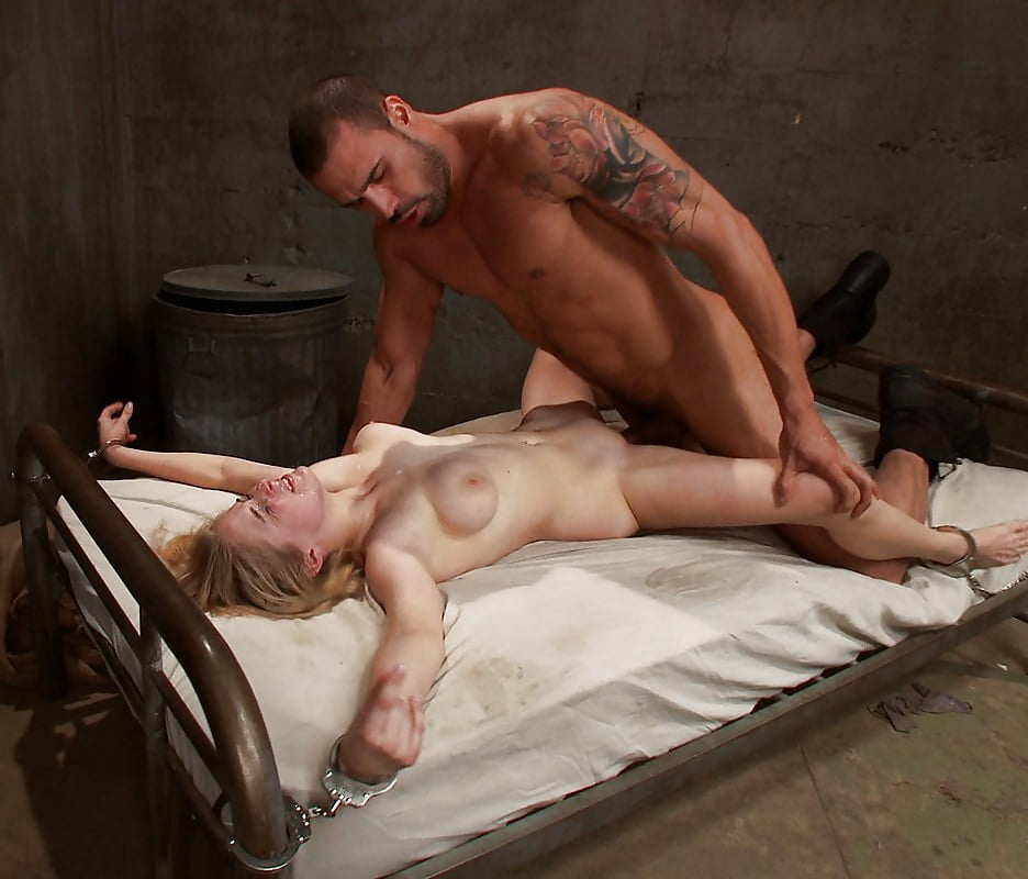 Amateur anal sex with bound hands and closed eyes