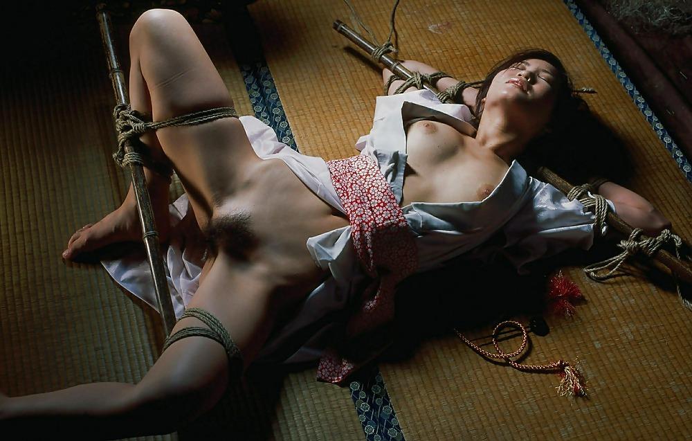 Older asian clothespin bondage