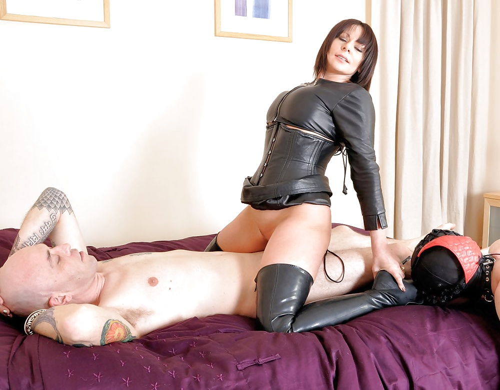 Slave Sucks Cock While His Mistress Fucks His Ass Hard