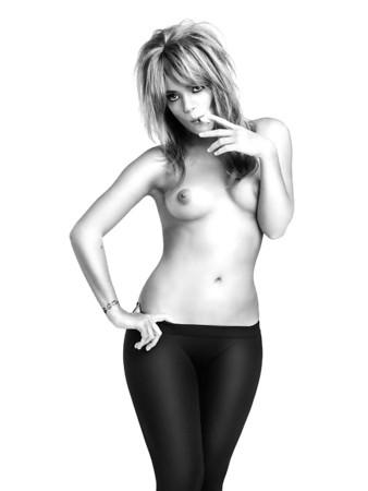 Slut strips naked