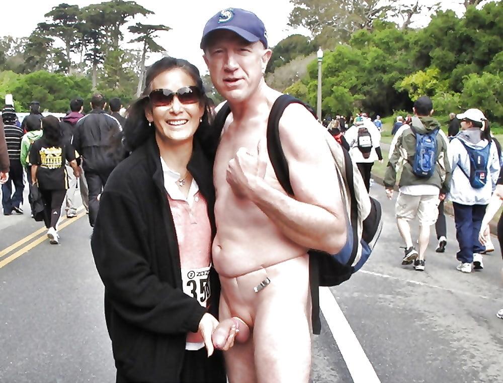 Nude men exposing cock to women in public, bunnygirl nude