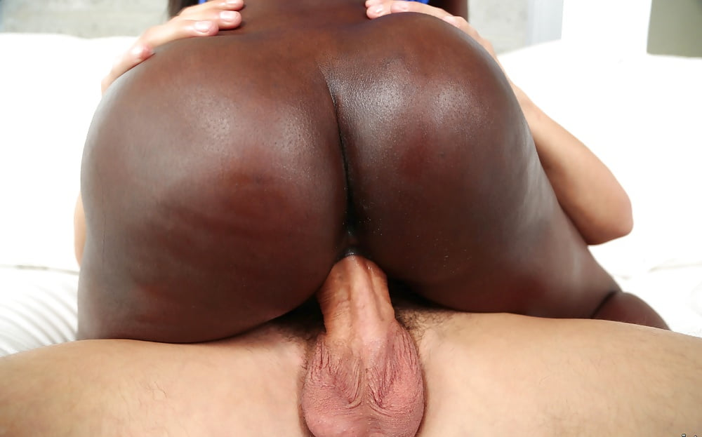 Ebony anal big white dick