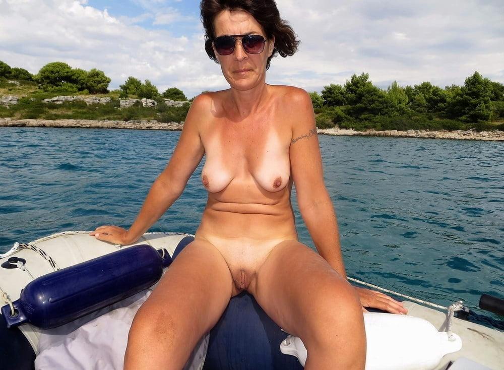 Big boobs naked beach