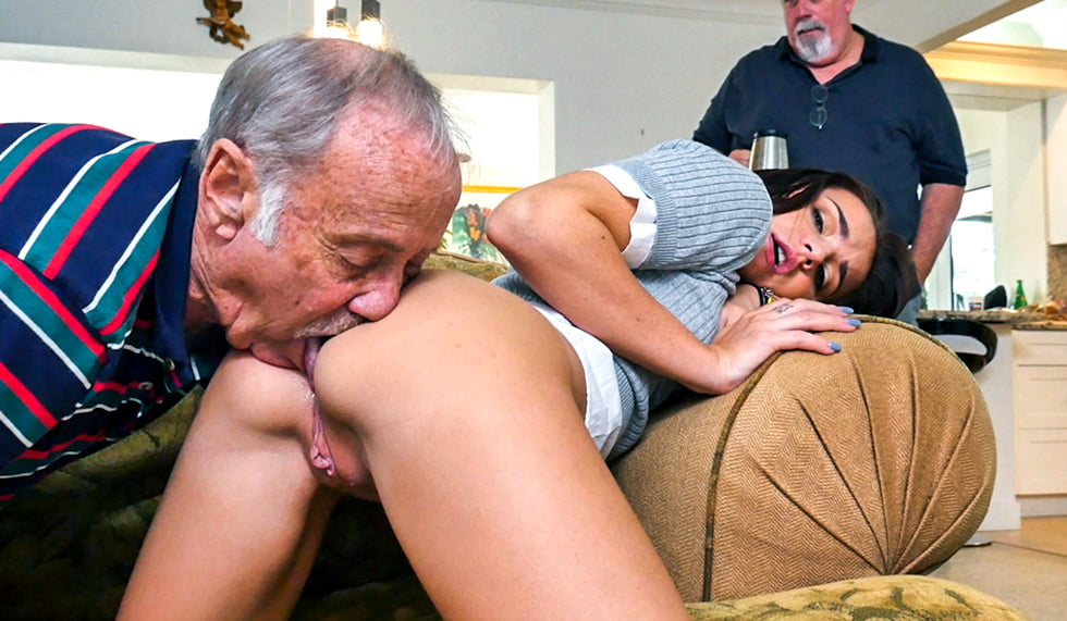 Lick my ass and pussy step dad or i will tell mom on you about fucking me