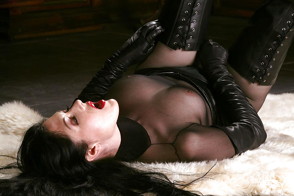 Black boots with black tights