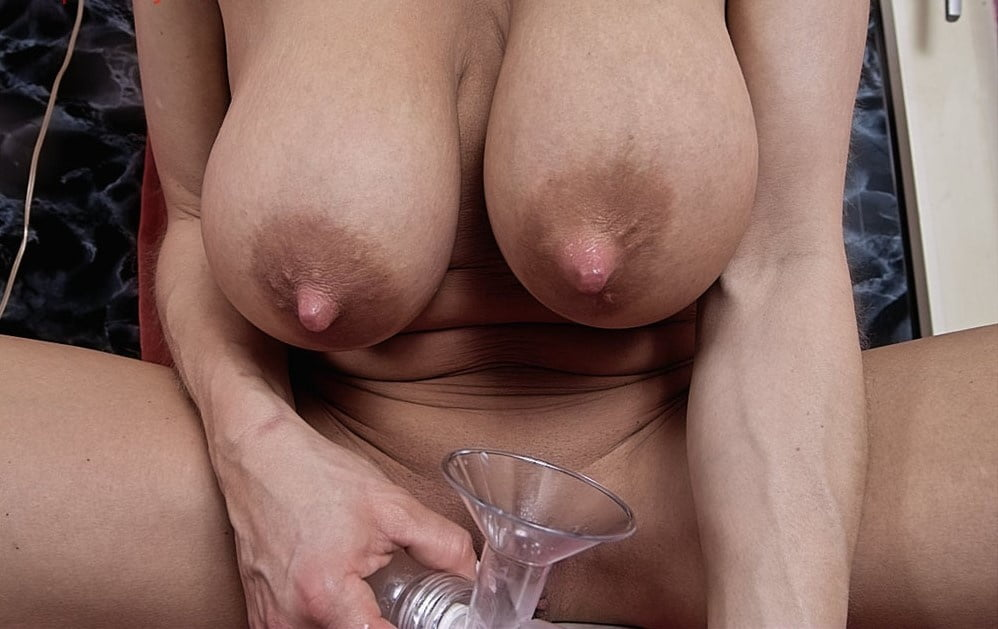 He milks her huge tits and she milks her cock engorgedtits
