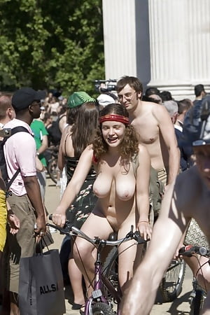 cute girls at world naked bike ride