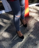 Candid feet and heels at work #3