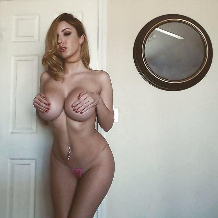 Ashley white strips naked outside