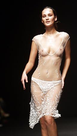 Naked on catwalk