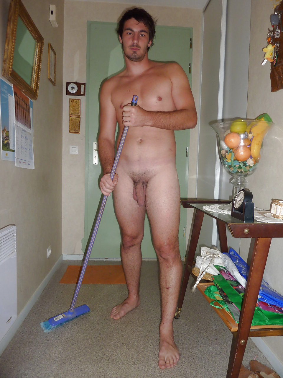 Legal male naked housework
