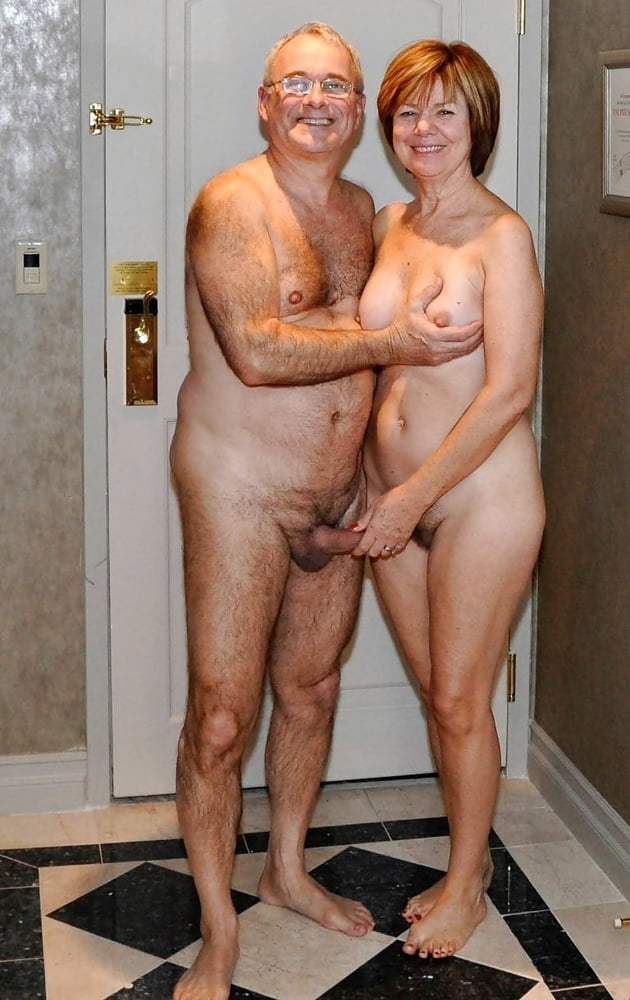 Nude young and old men and women