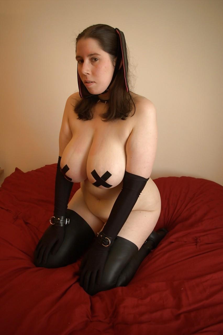 dress latex Big tits