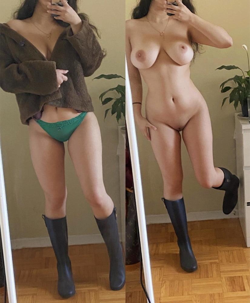 Women in panties and bent over