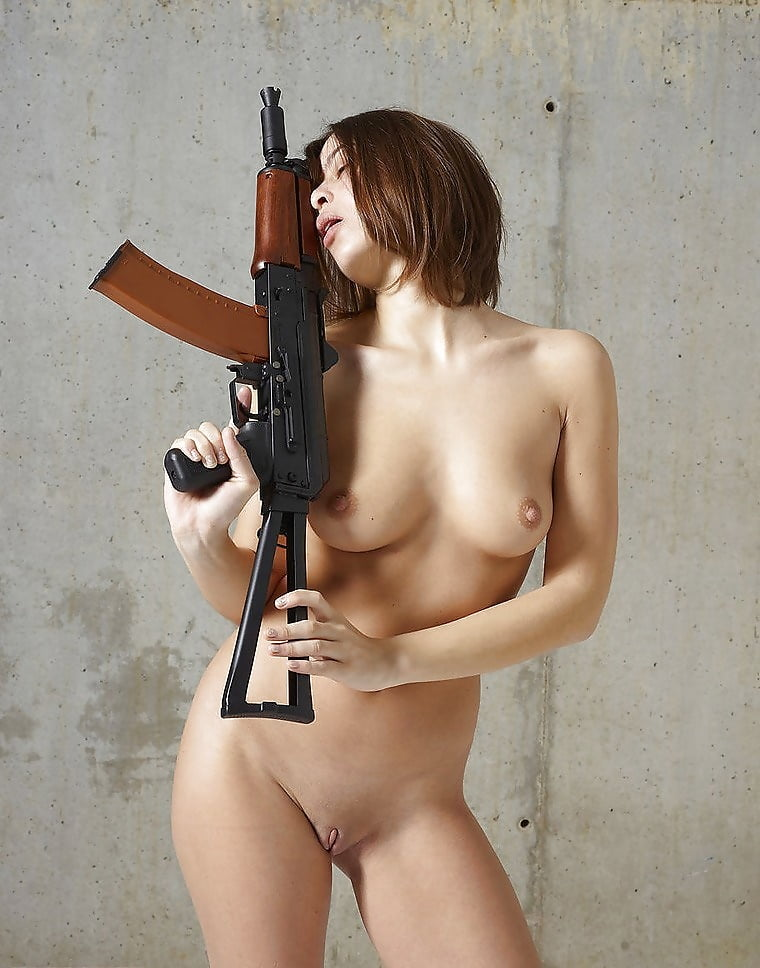 Nude woman and guns