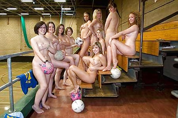 Nude college women gym