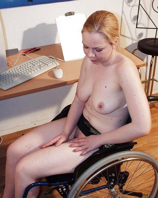 Polio women in wheelchair