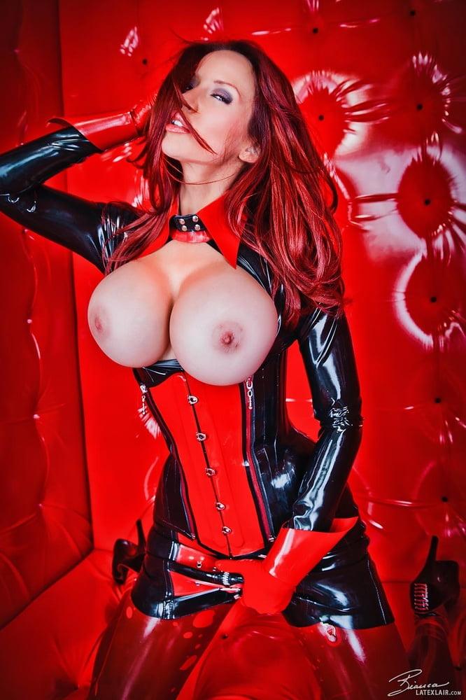 Big boobs latex porn