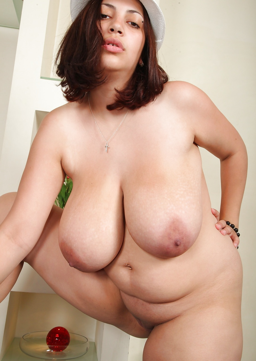 Fat amateur busty girlfriend with big tits
