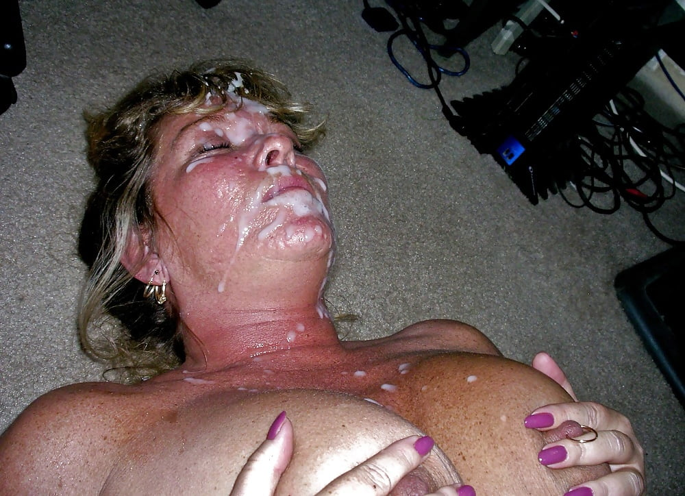 Wife with cum jizz sperm in her pussy