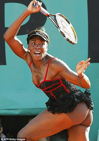 Her venus williams boobs shows sorry