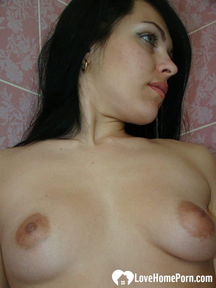 Hot neighbor shows off her body before bathing - 54 Pics