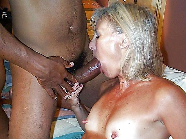 Hot granny sucking cock