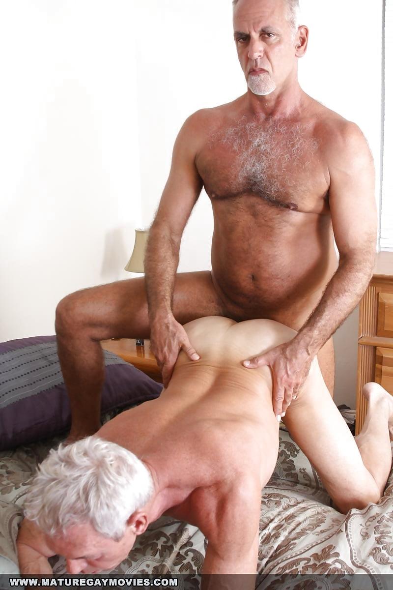 Mature man having sex — 1