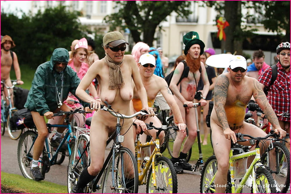 Naked bike ride today