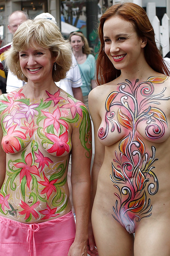 Nude Body Paint Gallery