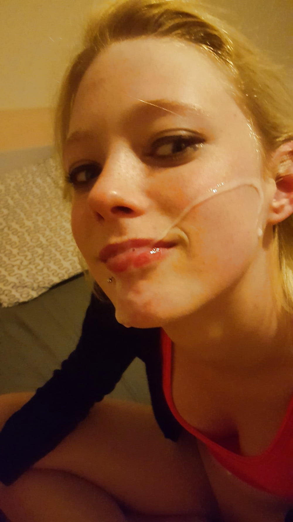 Girlfriend facial cum selfie, free young squirt videos