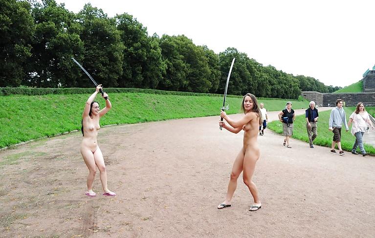 Spanking nude women