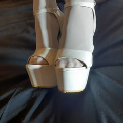 White Heels And Pantyhose