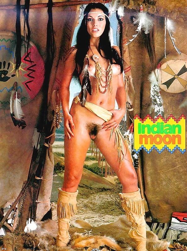 Native american babes are having lesbian sex in arousing retro porn clip