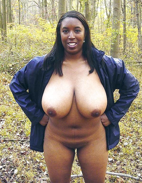Mature black amateur has nice big boobs