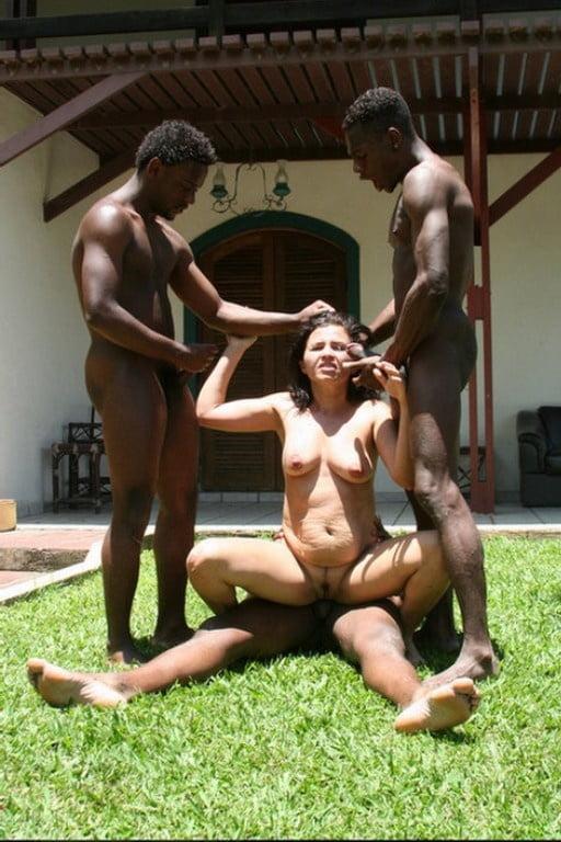 Mom interracial gangbang