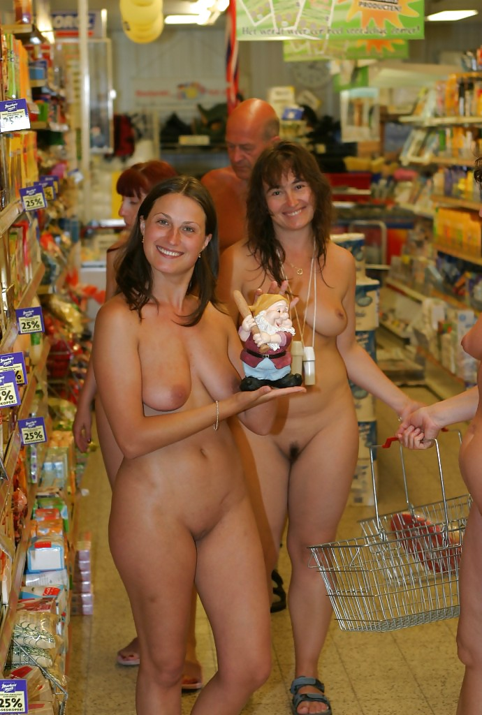 Finest Nude In Shopping Centre Gif