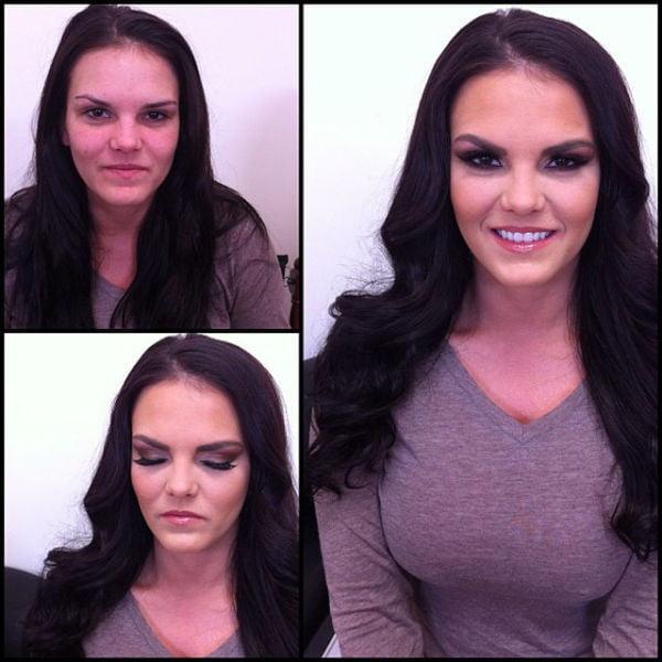 Pornstars Before and After Makeup - 91 Pics