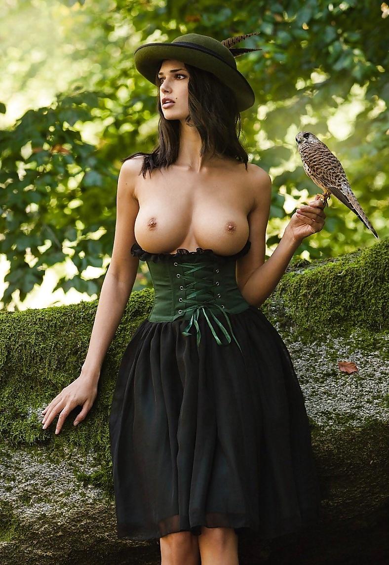 Beautiful nude girls in nature